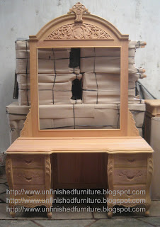 Klasik Furniture tolet klasik victorian supplier tolet dressing table mentah mahoni jepara supplier mebel klasik mentah unfinished