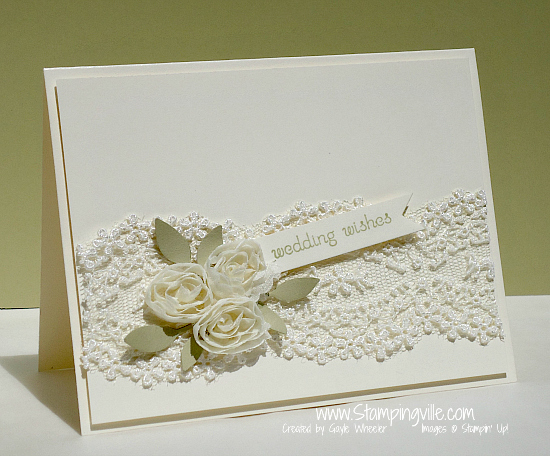 Elegant Floral Lace Wedding Card