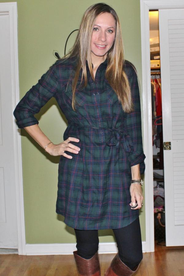 Blue Plaid Dress {dress}gap Flannel Plaid Shirt