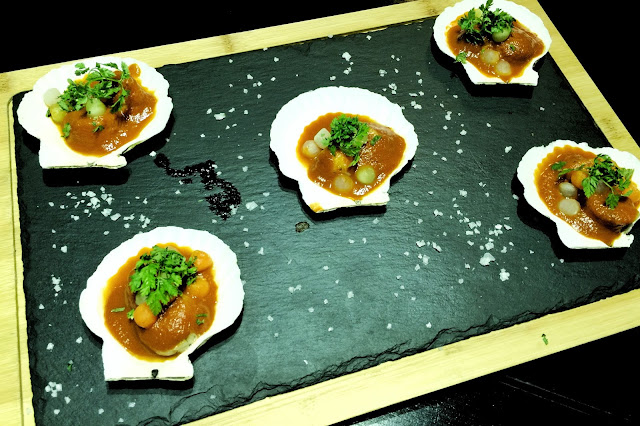Street 50 Restaurant and Bar - Bay Scallop with Warm Tomato Essence