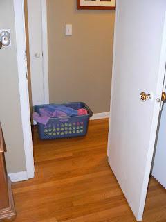 hallway laundry basket