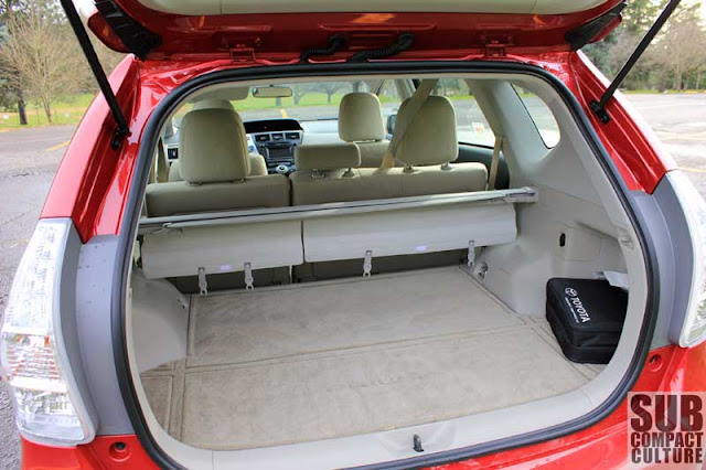 2012 Toyota Prius v cargo area - Subcompact Culture