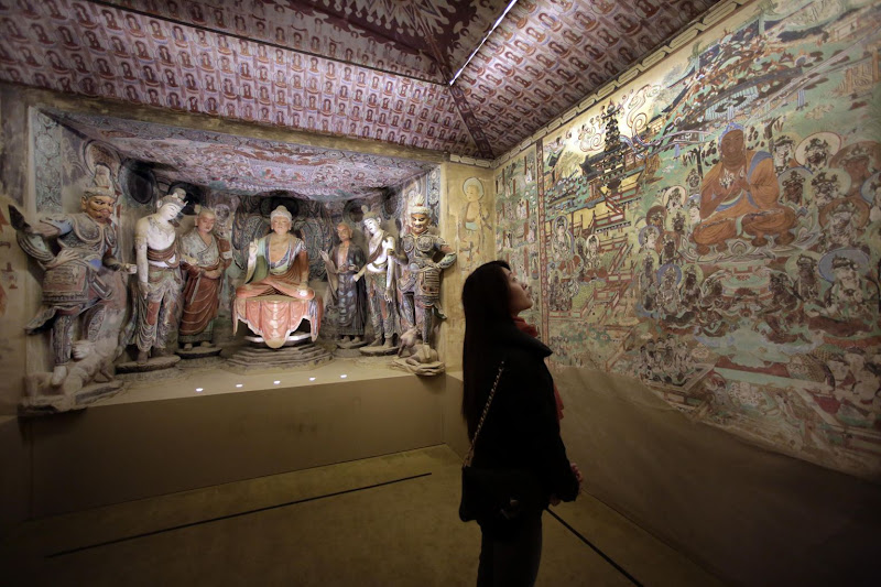NYC exhibition depicts ancient Buddhist caves