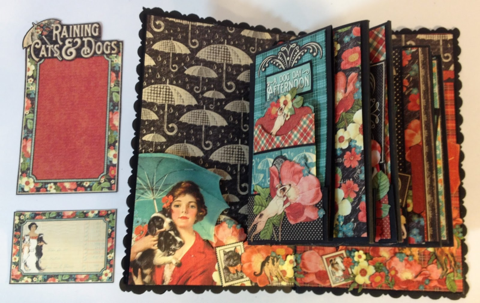 How to make scrapbook video - In This Video I Will Show How I Decorate The Inside Covers And Tell A Bit About The Outside Cover Decor That I Will Do When I Have Made The Dog House