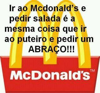 Ir ao Mc Donalds pra comer salada??