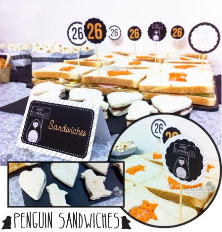 penguin sandwiches