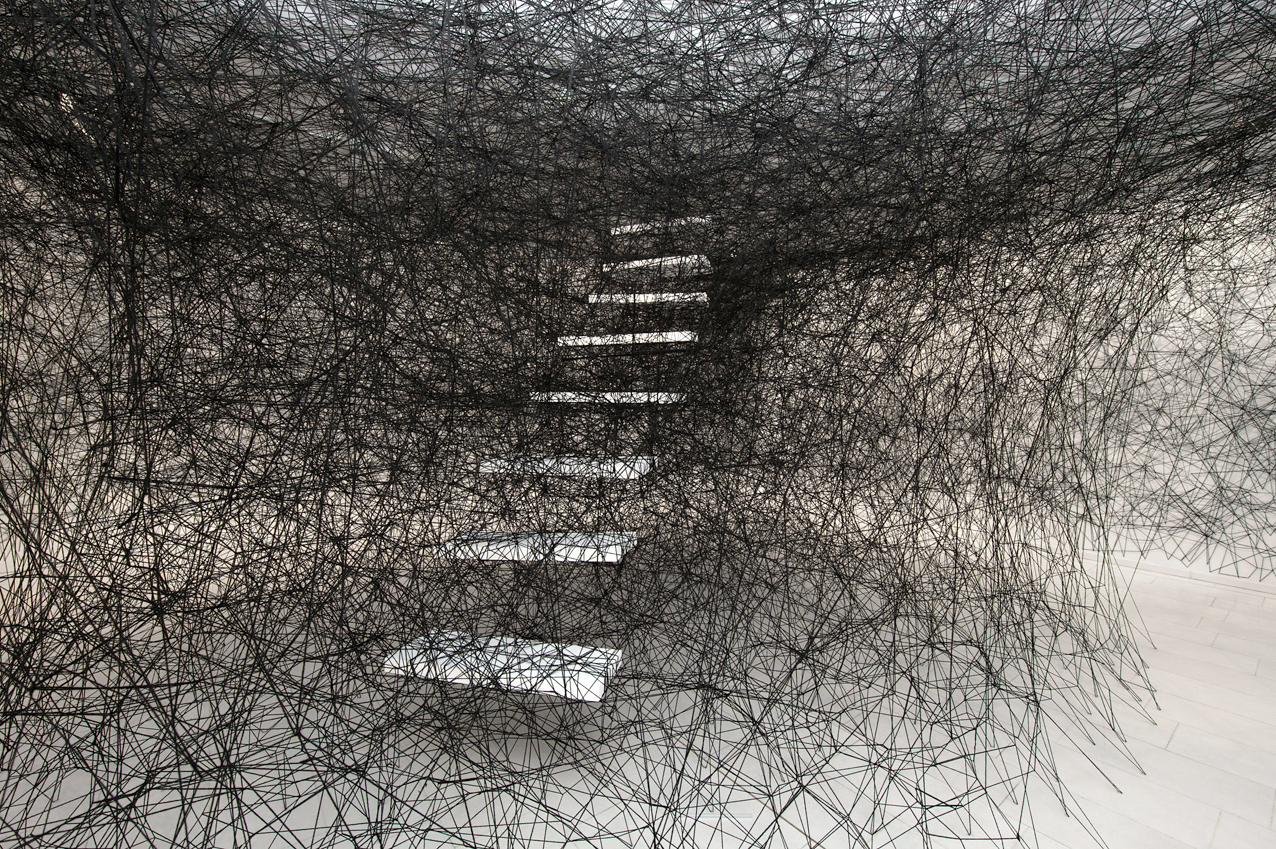 pennsylvasia chiharu shiota traces of memory exhibition still at