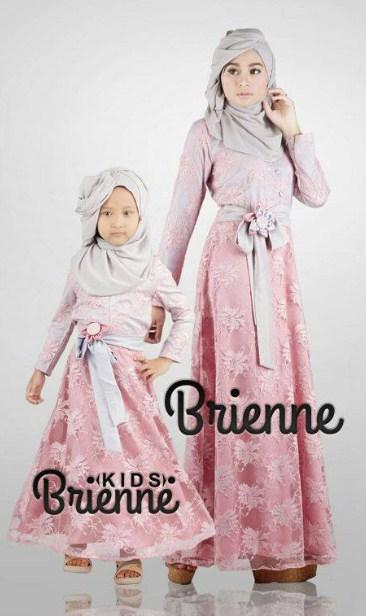 10 Model Baju Muslim Brokat Ibu Dan Anak Terbaru 2016