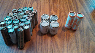 Bank Coin Rolls for Coin Roll Hunting looking for silver coins Big Game CRH