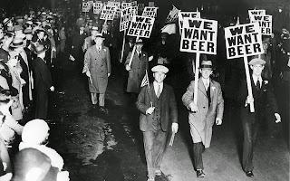 manifestación durante la ley seca