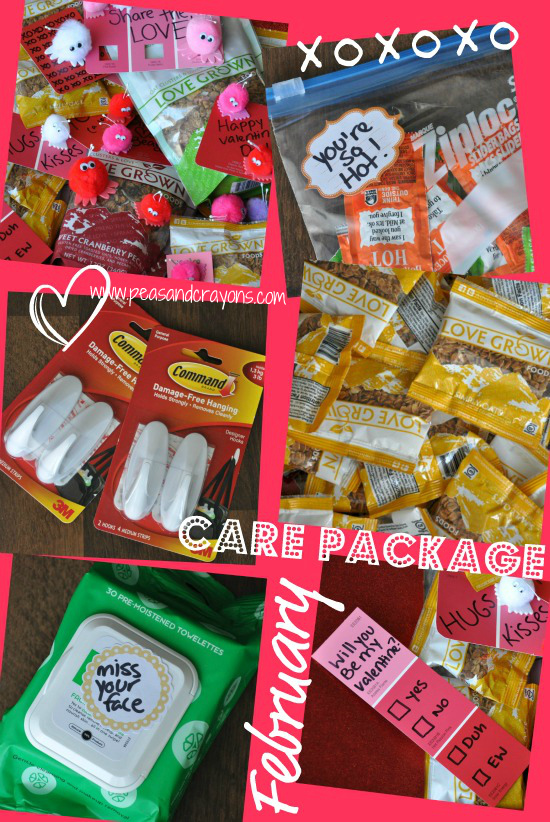 military care package valentines day february