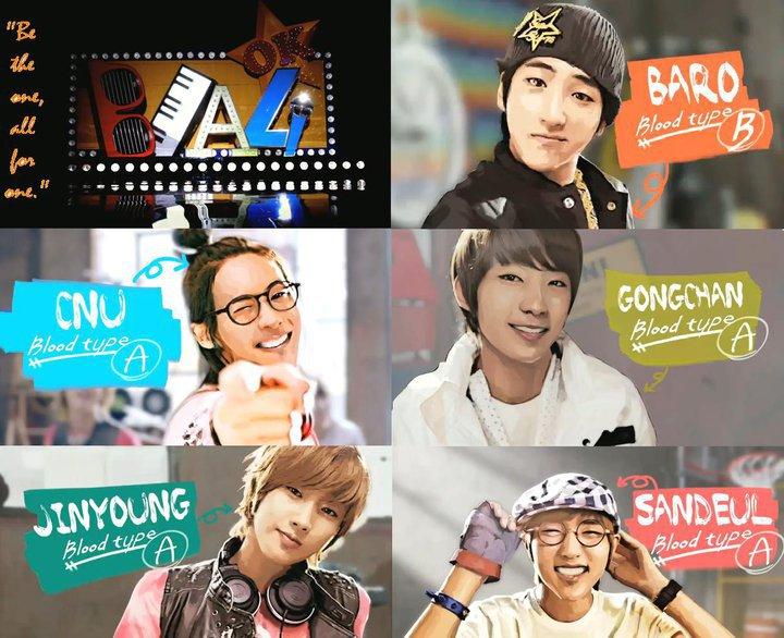 k-pop B1a4 Names