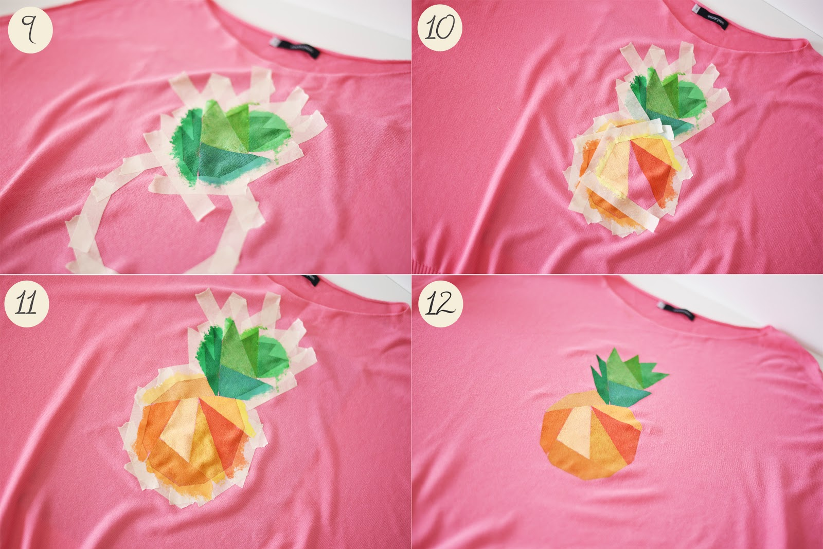 diy pineapple print top