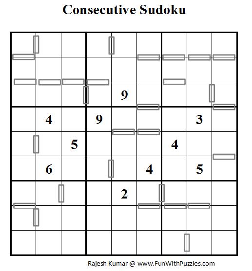Consecutive Sudoku (Daily Sudoku League #54)