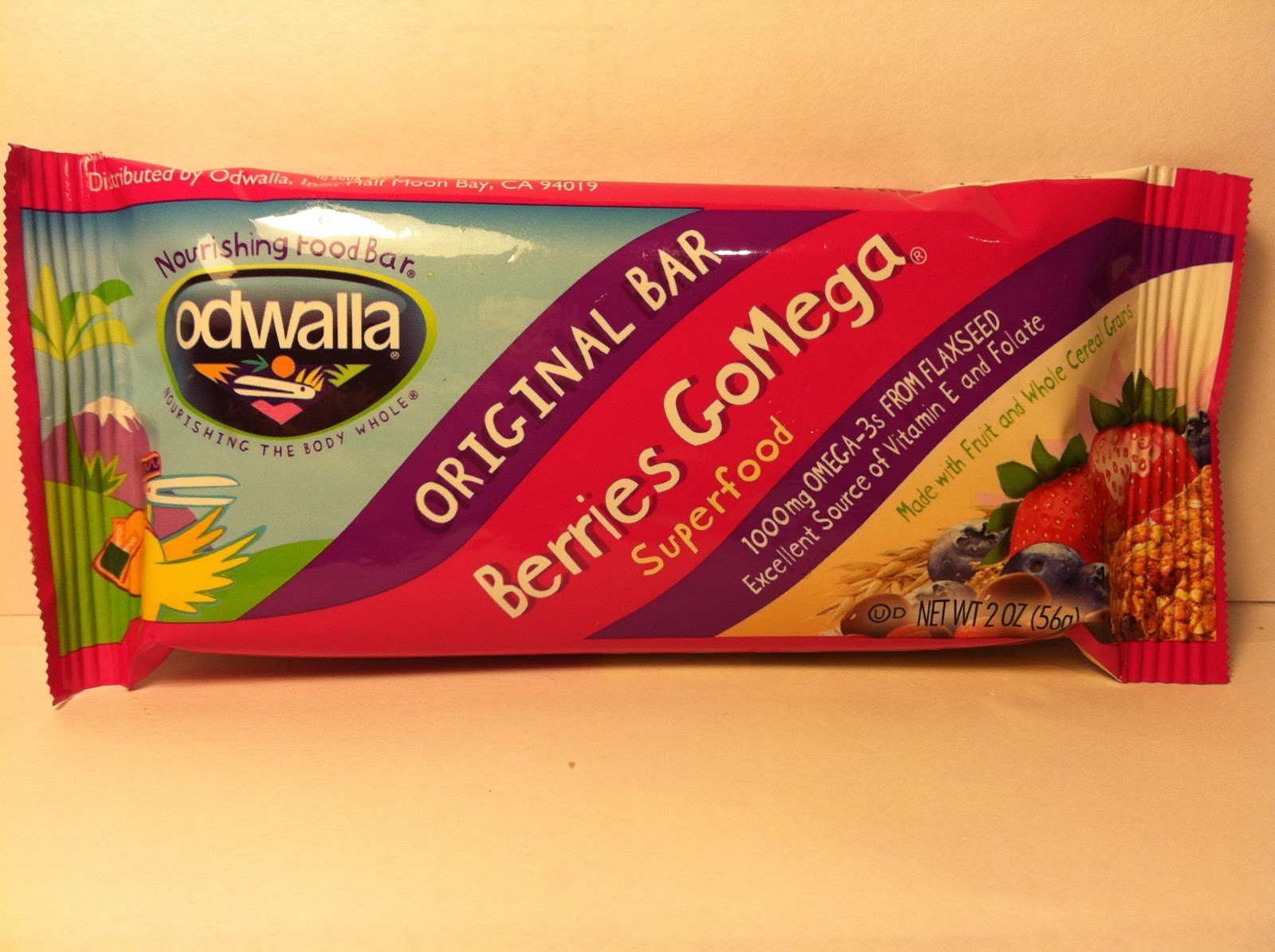 Crazy food dude review odwalla berries gomega superfood bar for Superfood bar