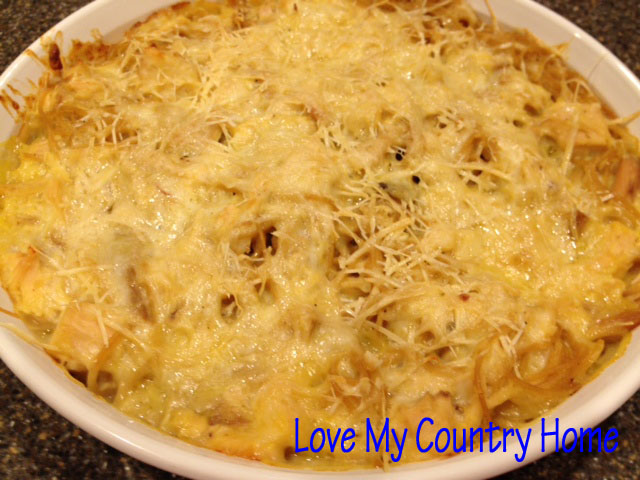 ... how to make cheesy chicken spaghetti casserole after the jump