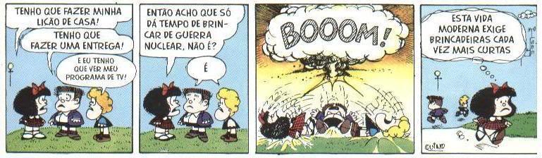 Tirinha Mafalda: Vida Moderna