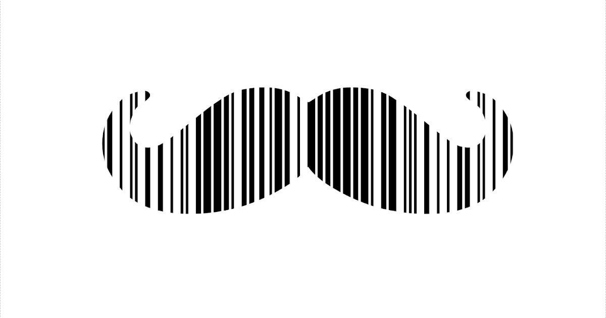 dailymoustache: 70. Barcode moustache