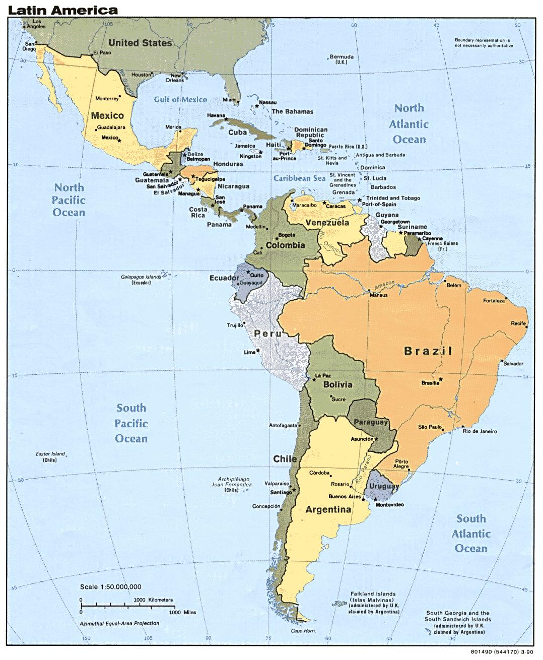 South America: Online Maps: April 2012