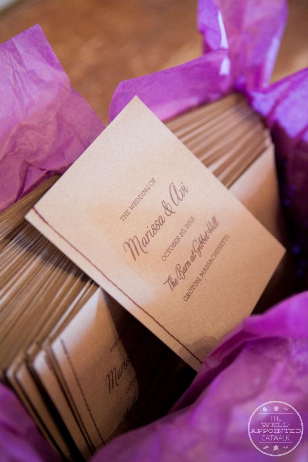 Kraft paper wedding programs