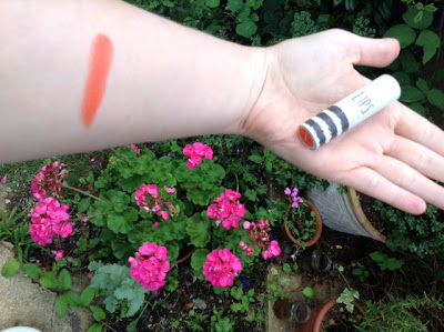 topshop infrared lips lipstick swatch
