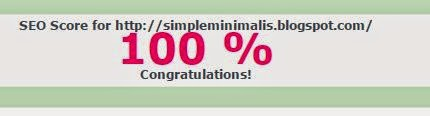 Simple Minimalis SEO Score
