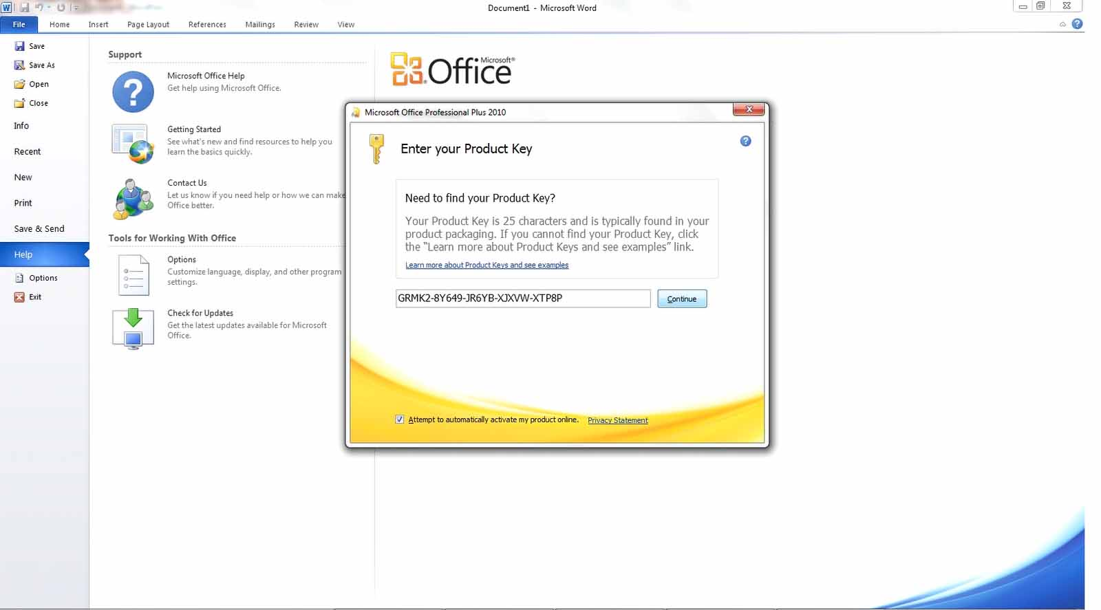 product key microsoft office professional 2010 gratis