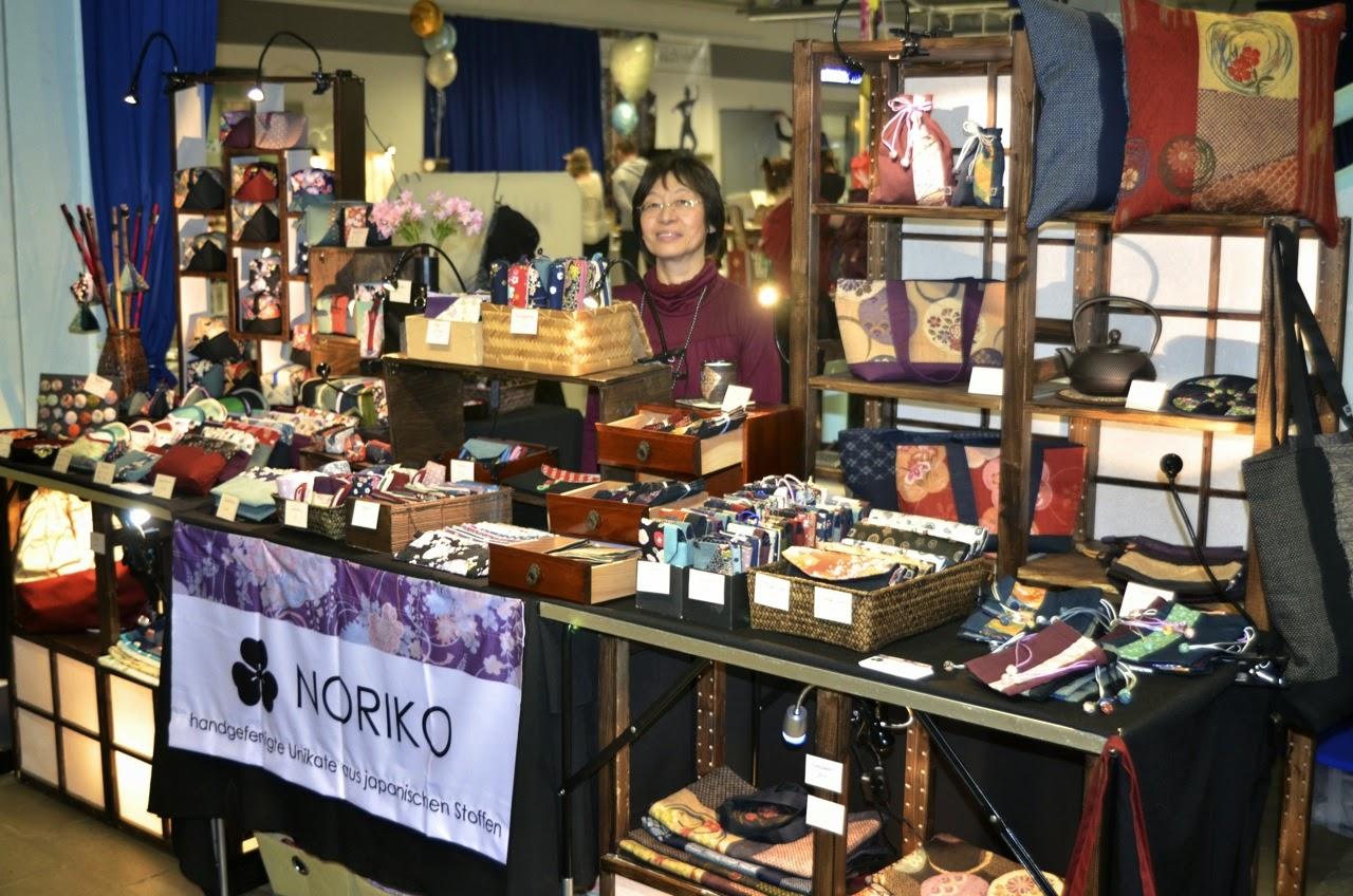 Noriko handmade auf dem Designgipfel in Münster. Handgefertigte Unikate aus japanischen Stoffen. Marktbericht. Markterfahrungen