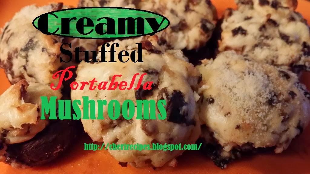 creamy stuffed portabella mushrooms