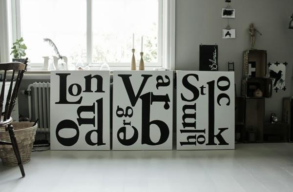 Stadtavlor, canvastavlor i svart och vitt, personliga tavlor, tavla london med text, ateljé, arbetsrum i grått och vitt, tavlor med text, tavla stockholm, tavla varberg
