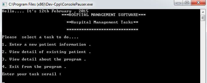 Hospital Management System Project in C++
