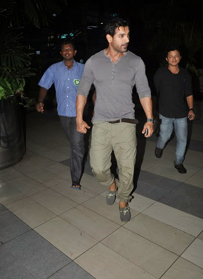 Actor John Abraham snapped at Mumbai airport
