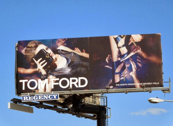 Tom Ford clutch shoe Spring 2014 billboard