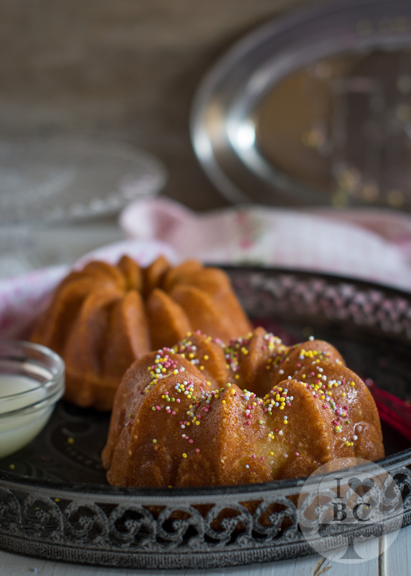 Vanilla Bundt Cake with sprinkles
