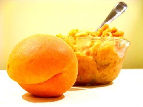 Making Apricot Sorbet