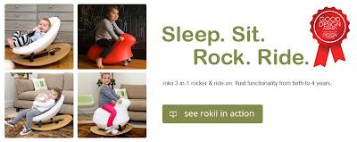 rokii, baby gear, baby rocking chair, rocker, ride-on toy