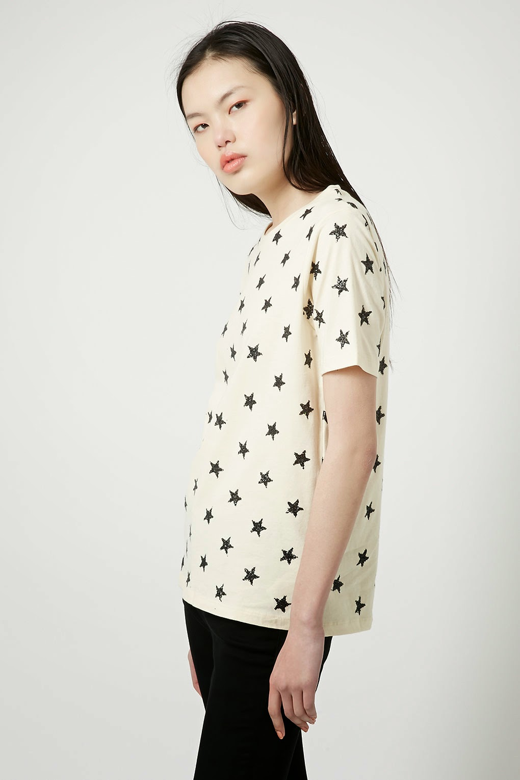 star print top topshop