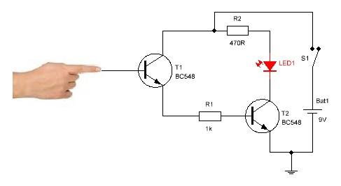 Sensor de tacto diagrama esquematico.
