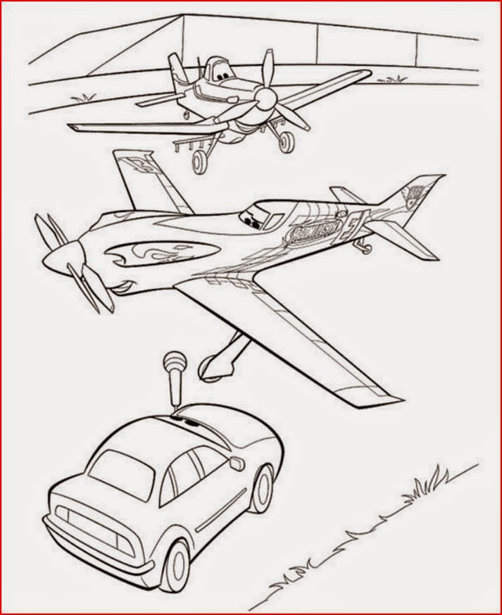 Disney Planes Coloring Pages : Coloring pages disney planes free and