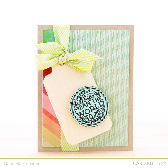 "Handmade ""You Mean the World to Me"" card by pixnglue using Studio Calico's Roundabout kits"