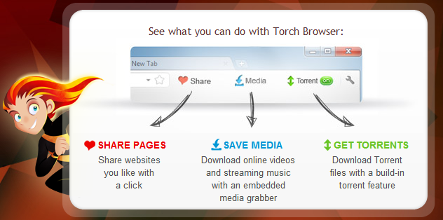 torch+browser Torch Browser: El navegador web social