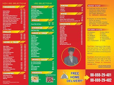 food code karjat restaurant menu