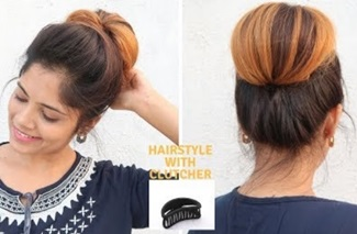 1 Min Hairstyle With Clutcher For Medium To Long Hair