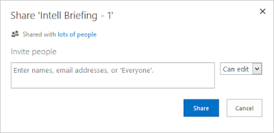 Users can invite people to access a document they want to share