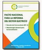 Publicación CES Pacto Nacional para la Reforma del Sector Eléctrico