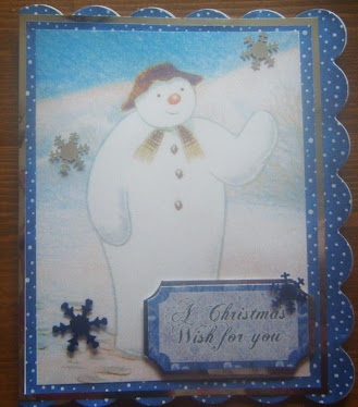 THE SNOWMAN CHRISTMAS CARD