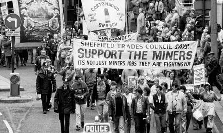 Manifestation des mineurs à Sheffield (Yorkshire) en 1984