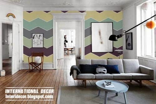 How to paint stripes on wall,zegzag striped walls, stripe painting