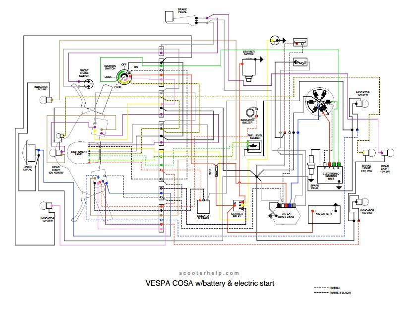 Wiring Diagram Vespa Px Platina Wiring Source