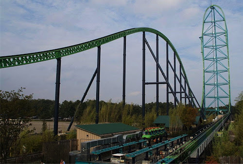 Montanha russa Kingda Ka - Six Flags Great Montain